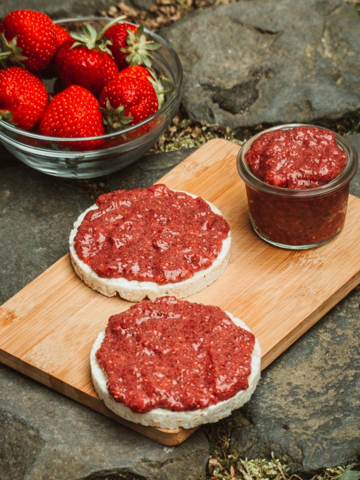 Chiasamen Marmelade Erdbeeren