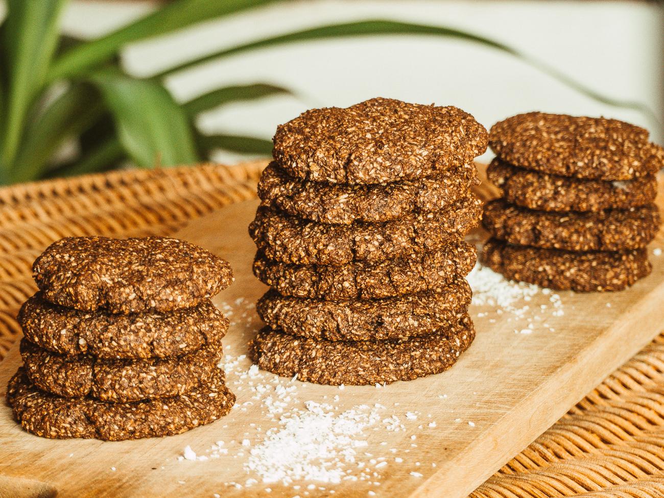 Vegane Schoko-Kokos Cookies Rezept - zuckerfrei & gesund