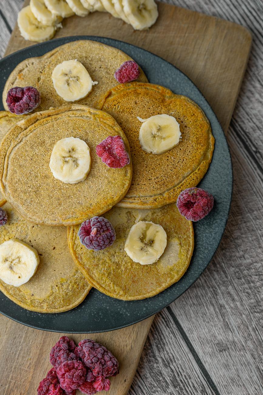 schnelle, vegane Pancakes