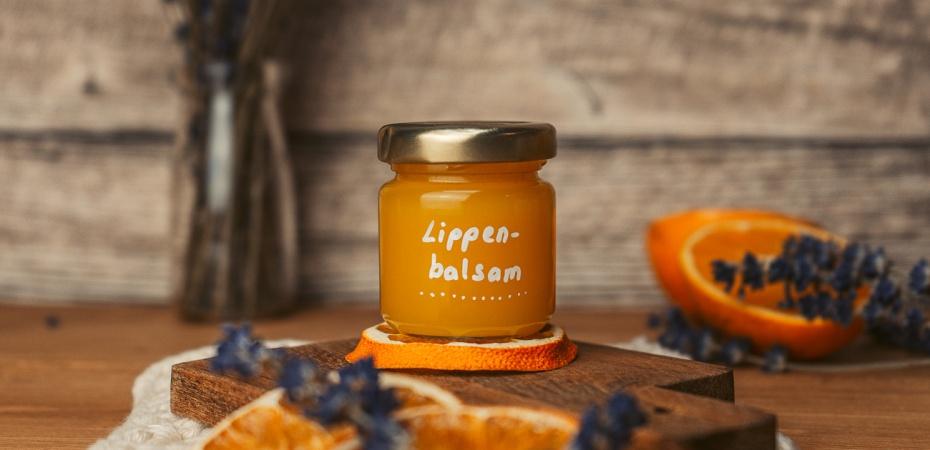Orangen-Lavendel Lippenbalsam Rezept