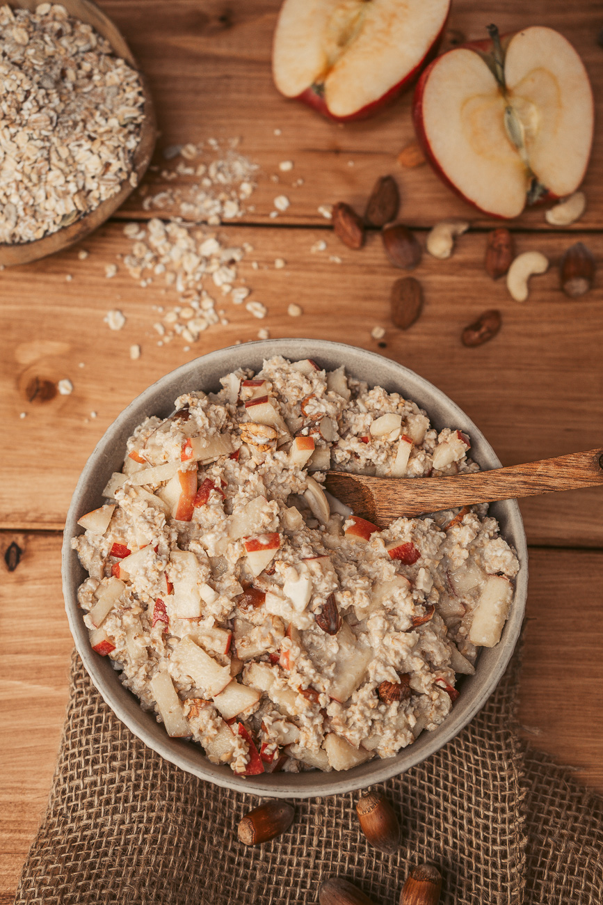 Veganes, gesundes Bircher Müsli