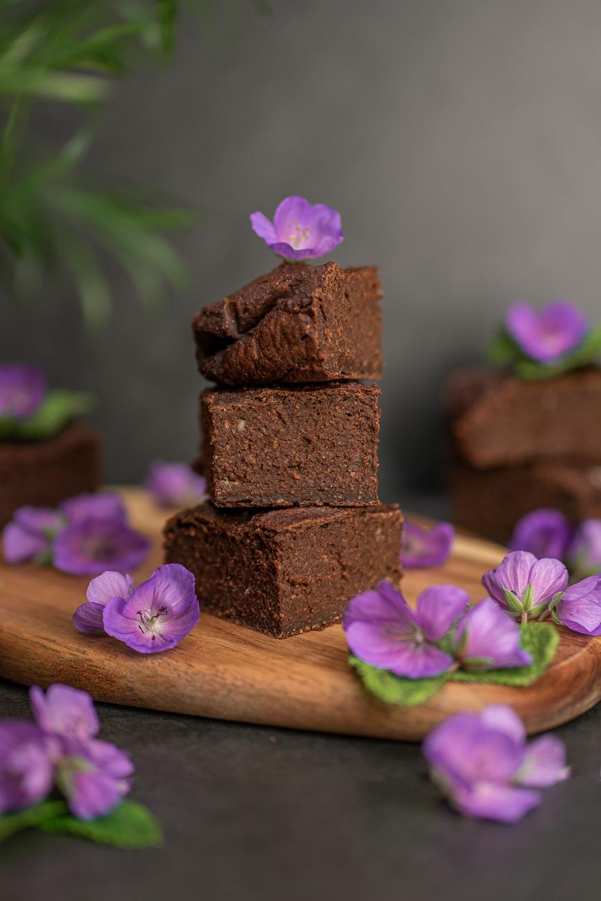 Vegane, gesunde Brownies Rezept